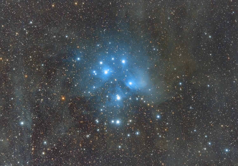 사진/심우주/동상 임재식 / Pleiades cluster