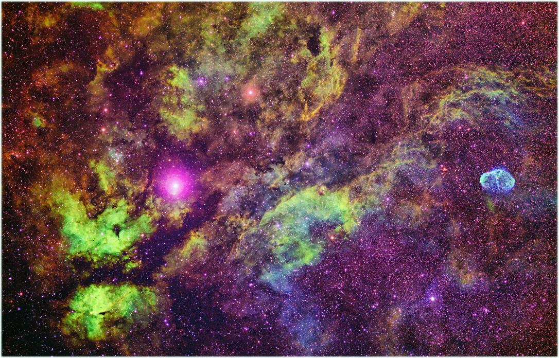 제24회(지난해) 천체사진공모전 대상수상작: 백조자리 중심부, 이길재