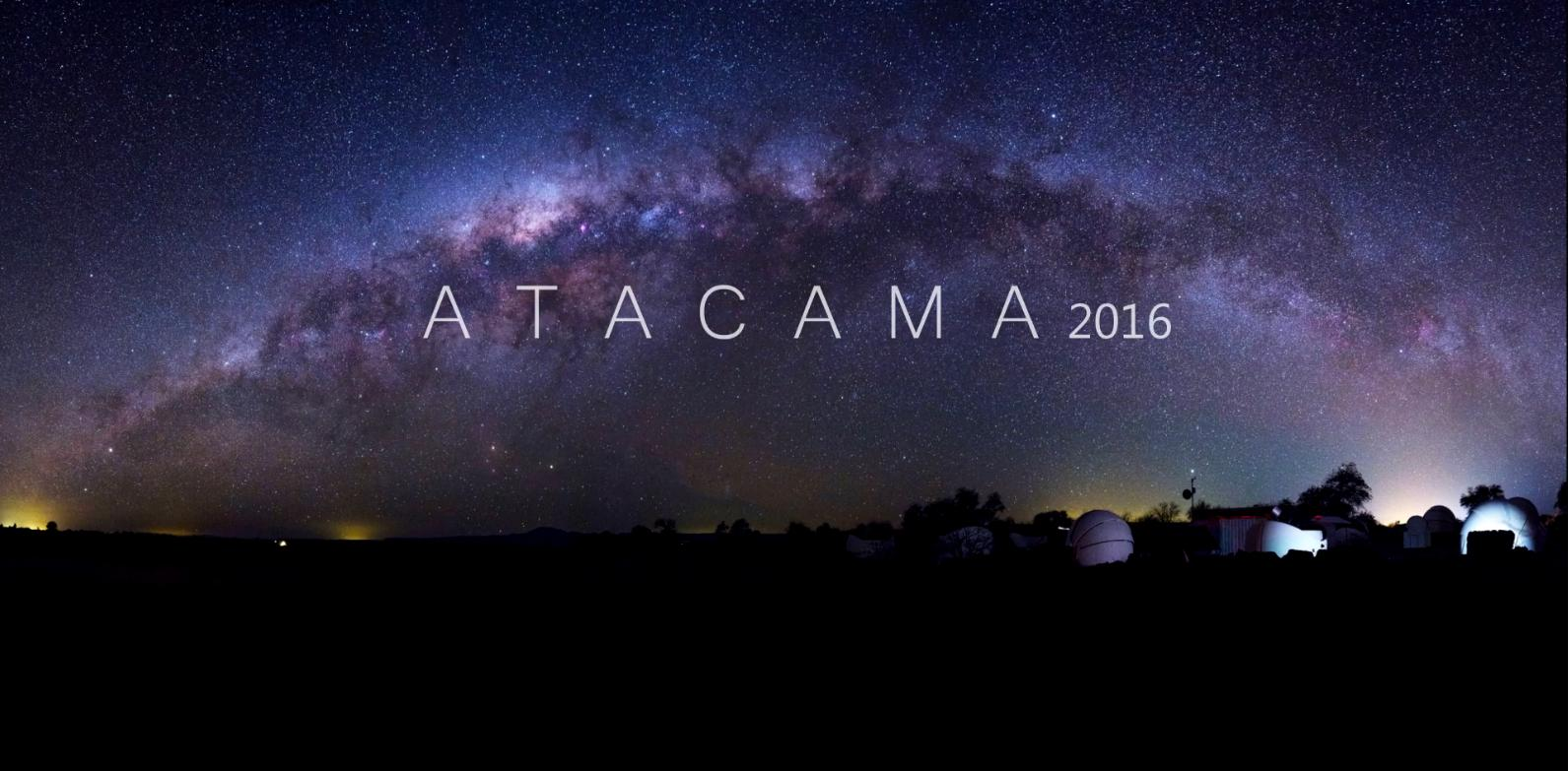 대상수상작인 김호섭 씨의  'Atacama 2016' 동영상 첫 화면