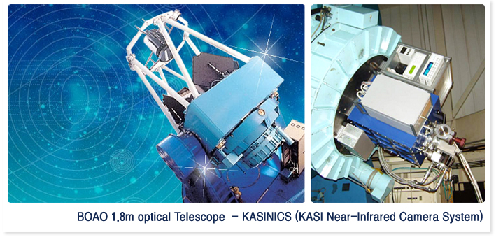BOAO 1.8m optical Teelscope - KASINICS(KASI Near-Infrared Camera System)
